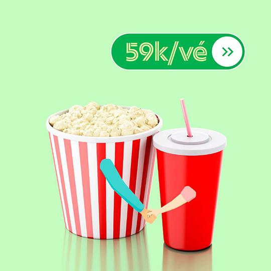 BHD Star Cineplex đồng giá vé phim chỉ 59k qua GrabFood