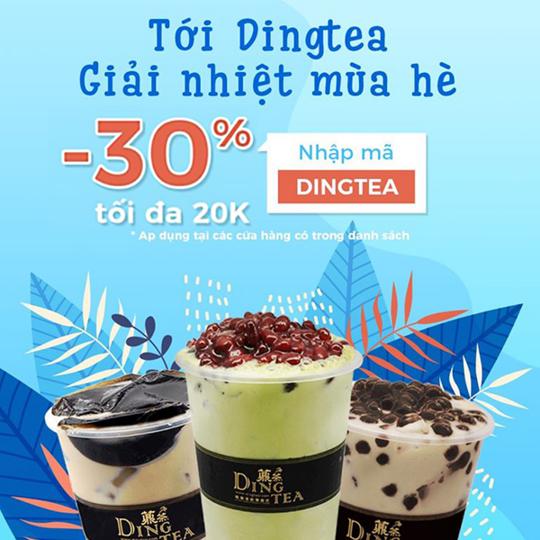 VNPAY khuyến mãi 30% tối đa 20K tại Dingtea
