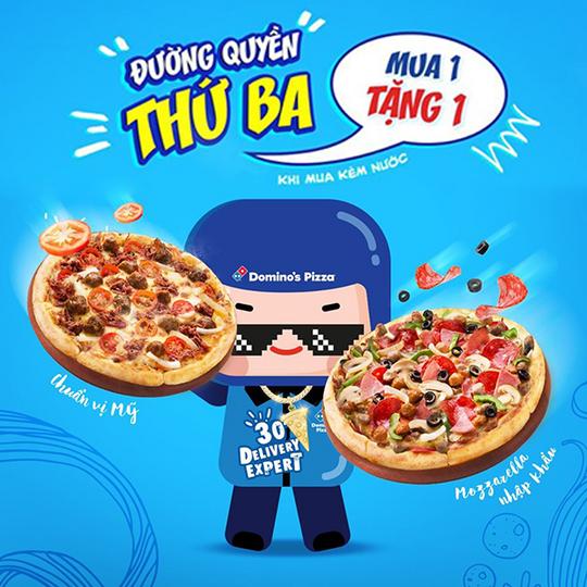 Domino khuyến mãi pizza mua 1 tặng 1