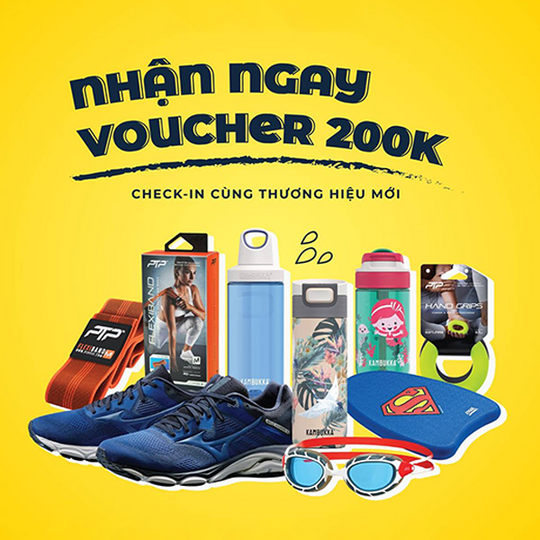 Supersports Vietnam tặng voucher 200k khi check in