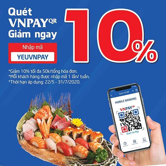 Sushi World giảm 10% khi thanh toán qua VNPAY