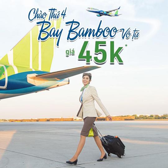 Bamboo Airways khuyến mãi vé bay chỉ từ 45k