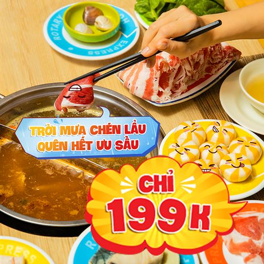 Kichi Kichi khuyến mãi buffet chỉ 199k cả ngày