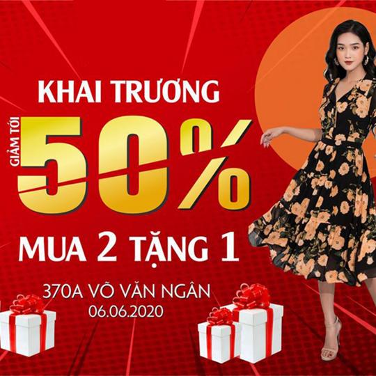 NEM Fashion khuyến mãi đến 50% & mua 2 tặng 1