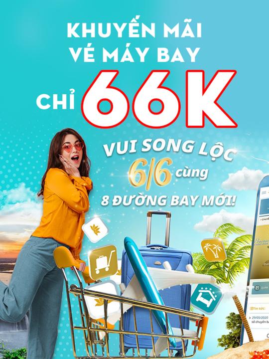 Vietnam Airlines khuyến mãi vé bay nội địa chỉ 66k