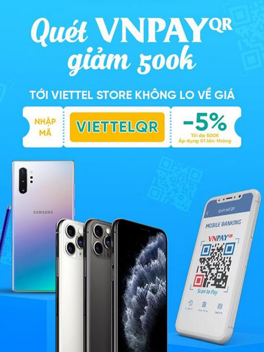 VNPAY khuyến mãi 5% tối đa 500k tại Viettel