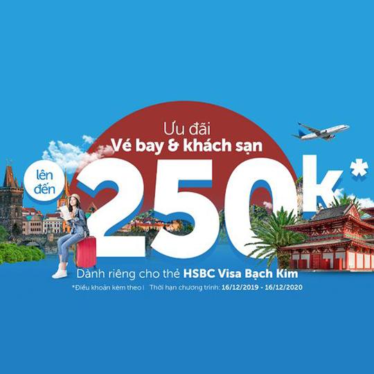 Traveloka giảm đến 250k cho chủ thẻ HSBC