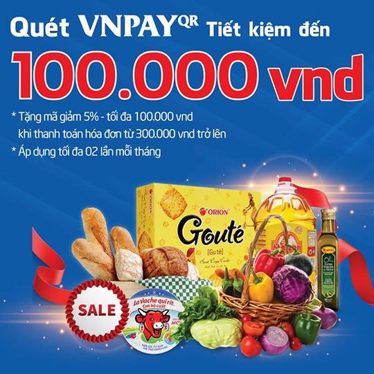 VNPAY khuyến mãi 5% tối đa 100k tại Big C