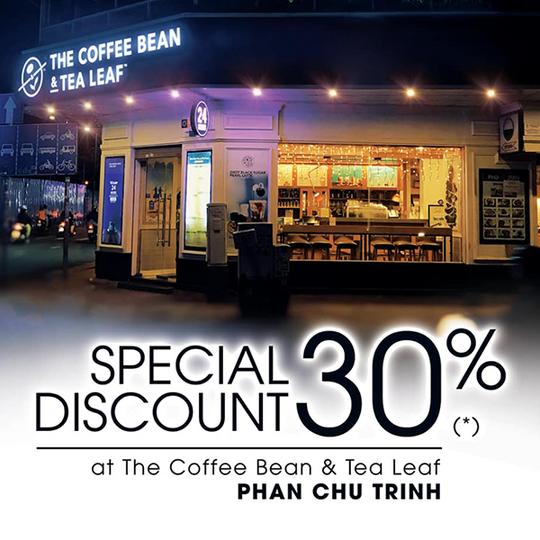 The Coffee Bean giảm 30% mừng khai trương