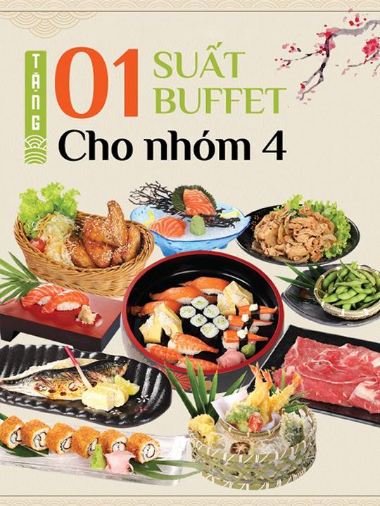 Sushi Kei đi 4 tặng 1 tại Hà Nội