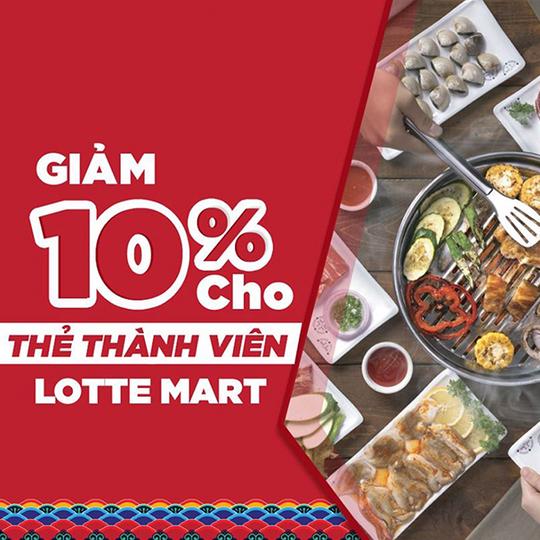 King BBQ giảm 10% cho thẻ thành viên Lotte Mart