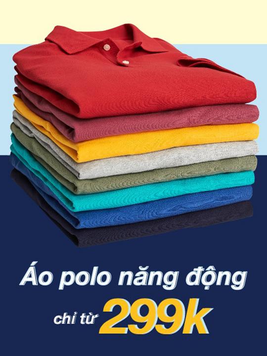 GAP khuyến mãi áo Polo chỉ từ 299k