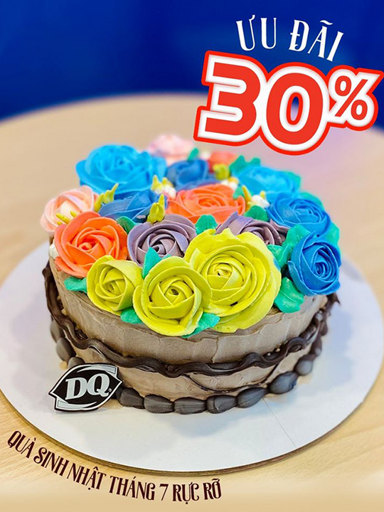 Dairy Queen khuyến mãi 30% cho bánh kem lạnh