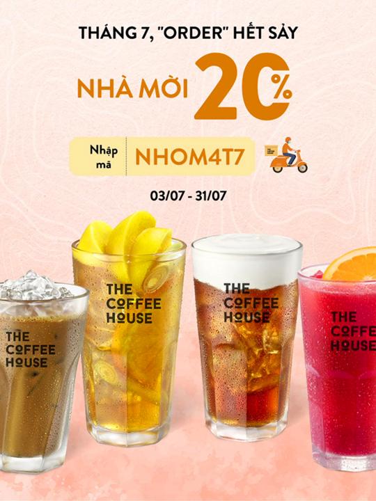 The Coffee House khuyến mãi 20% cho đơn giao hàng