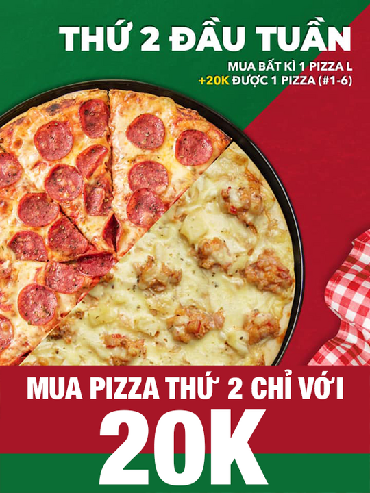 Pepperonis mua 1 Pizza, Pizza thứ 2 chỉ 20K