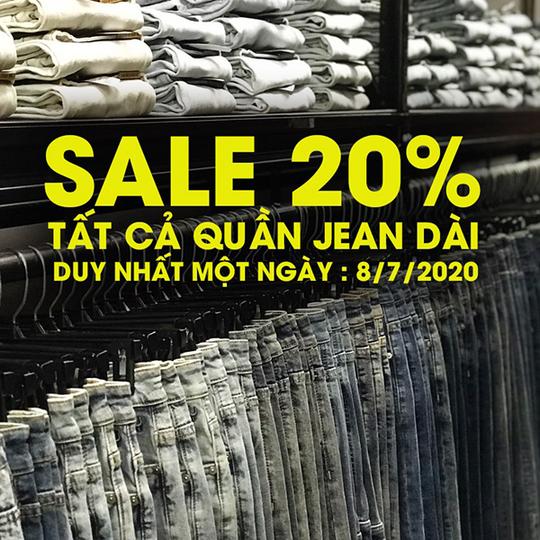 Yame giảm 20% toàn bộ Jean dài