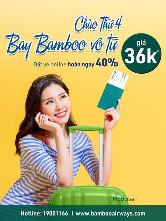 Bamboo Airways vé bay từ 36k vào thứ tư