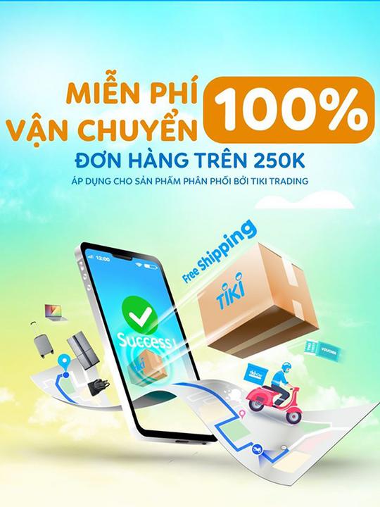 Tiki miễn phí vận chuyển với hóa đơn 250k