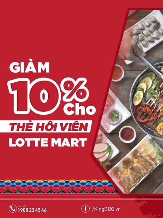 King BBQ giảm 10% cho KH Lotte Mart