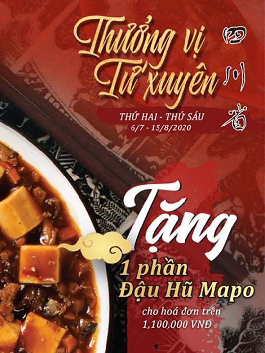 San Fu Lou tặng đậu hũ Mapo với HĐ từ 1.100k