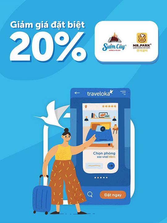 Traveloka giảm 20% tại Sườn Cây và Mr. Park