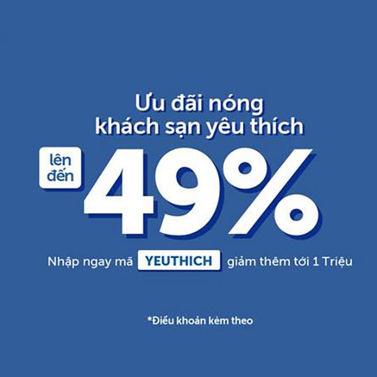 Traveloka giảm đến 49% khi đặt khách sạn