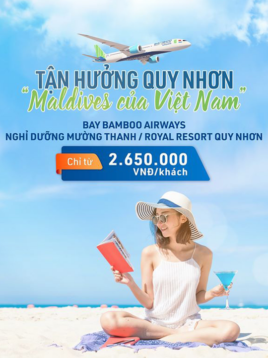 Bamboo Airways khuyến mãi vé bay + khách sạn chỉ từ 2650k