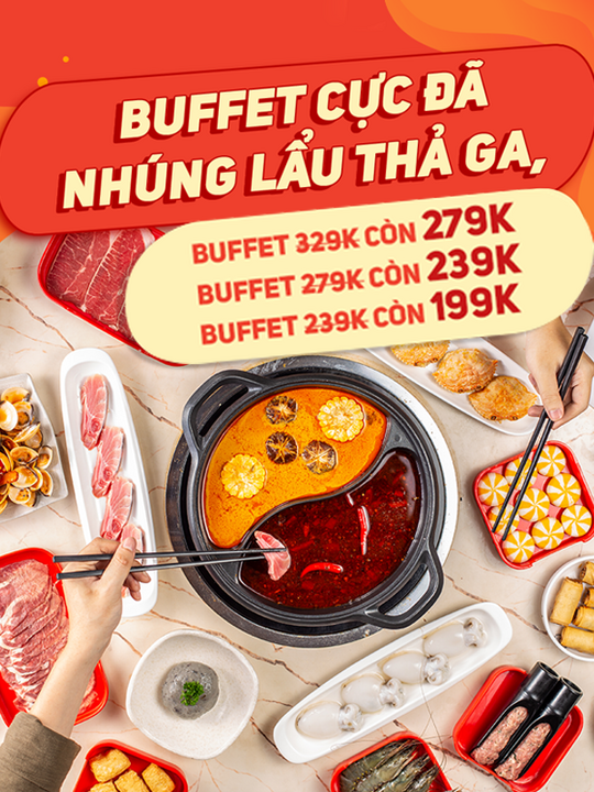 Hotpot Story khuyến mãi buffet chỉ từ 199k