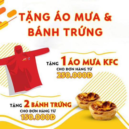 KFC tặng 1 áo mưa cho ĐH từ 250k