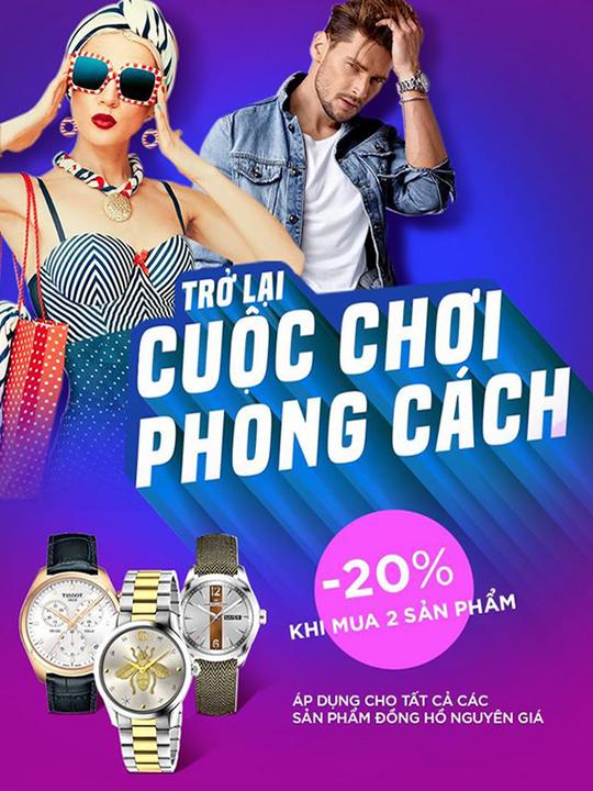 PNJ Watch khuyến mãi đến 20% khi mua 2 sản phẩm