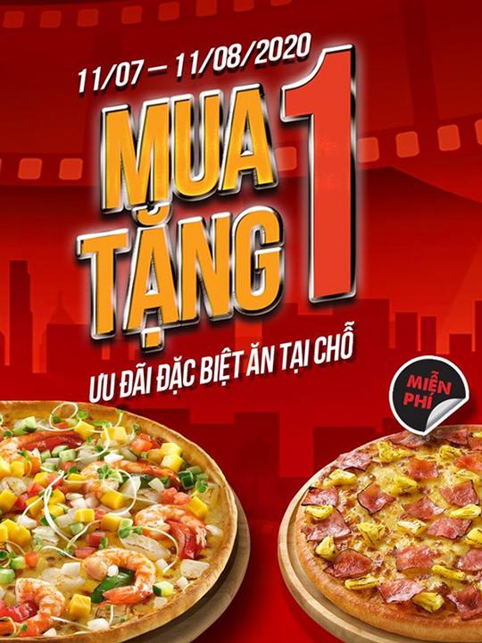 Pizza Hut mua 1 tặng 1 tại Linh Đàm