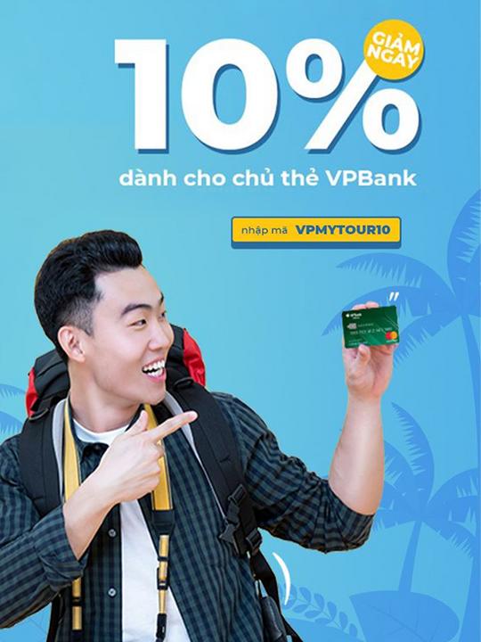 Mytour giảm đến 200k cho chủ thẻ VPbank