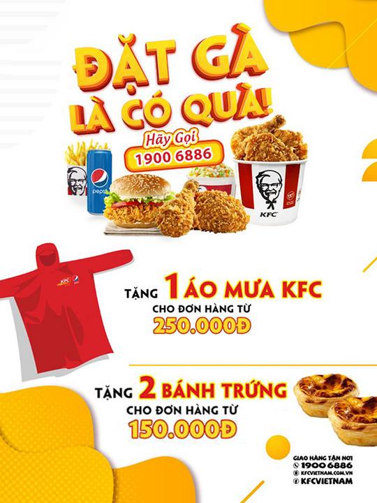 KFC quà tặng với hóa đơn từ 150k