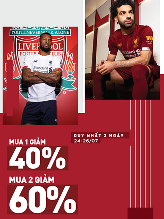 Supersports Vietnam giảm đến 40% áo đấu L.F.C