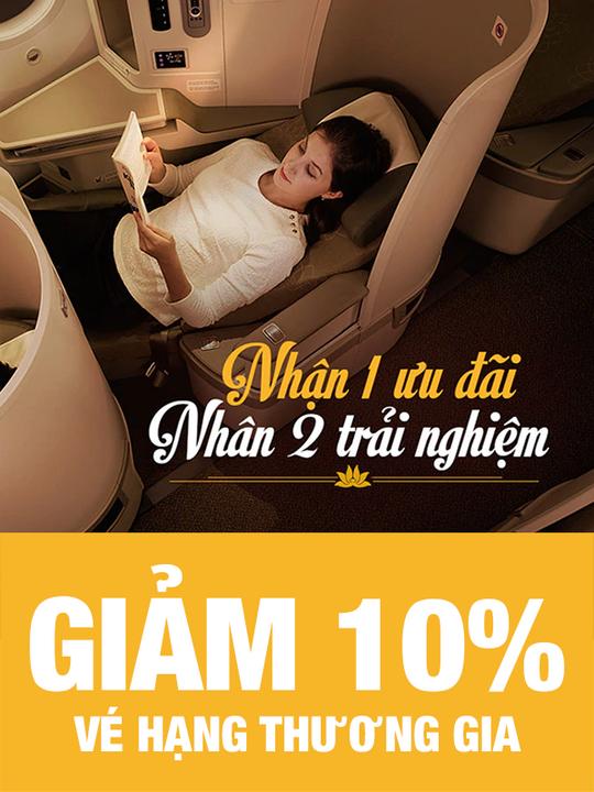 Vietnam Airlines giảm 10% vé hạng Thương gia