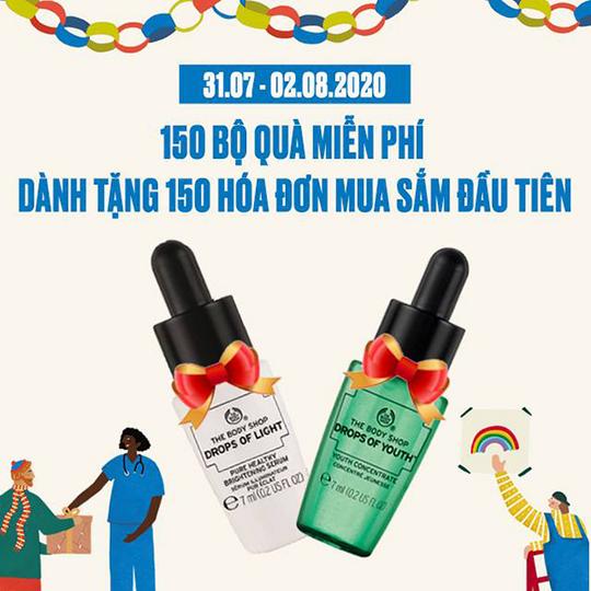 The Body Shop quà tặng cho 150 KH đầu tiên