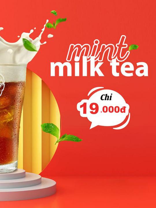 KFC khuyến mãi Trà Sữa Bạc Hà chỉ 19K