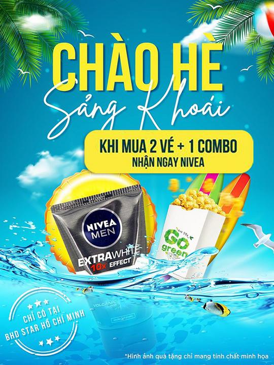 BHD Star Cineplex tặng 1 Sữa rửa mặt Nivea mua 2 vé xem
