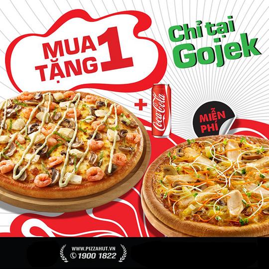 Pizza Hut khuyến mãi mua 1 tặng 1 Pizza cỡ nhỏ
