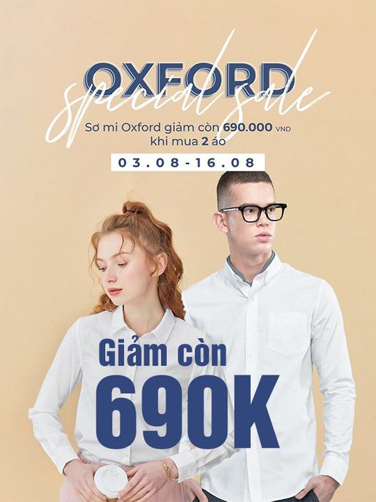 Giordano áo Oxford chỉ 690k khi mua từ 2 áo