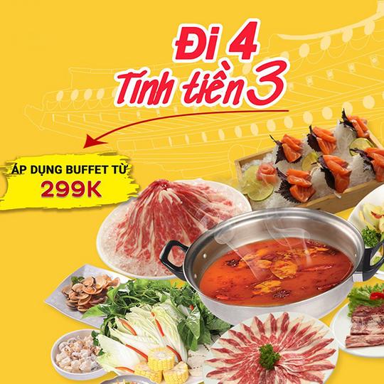 Seoul Garden tặng 01 suất buffet cho nhóm 04 tại Hà Nội