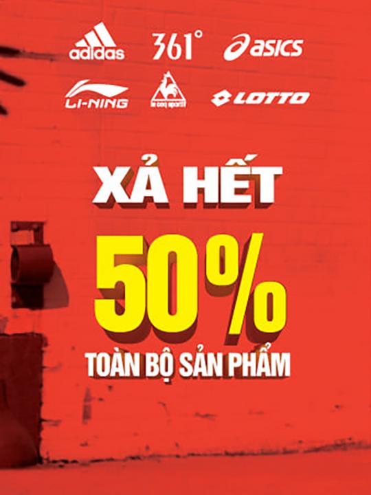 MaxxSport giảm 50% toàn bộ sản phẩm