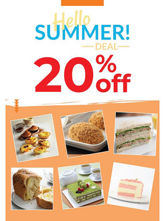 BreadTalk khuyến mãi giảm 20% bánh ngọt, mặn