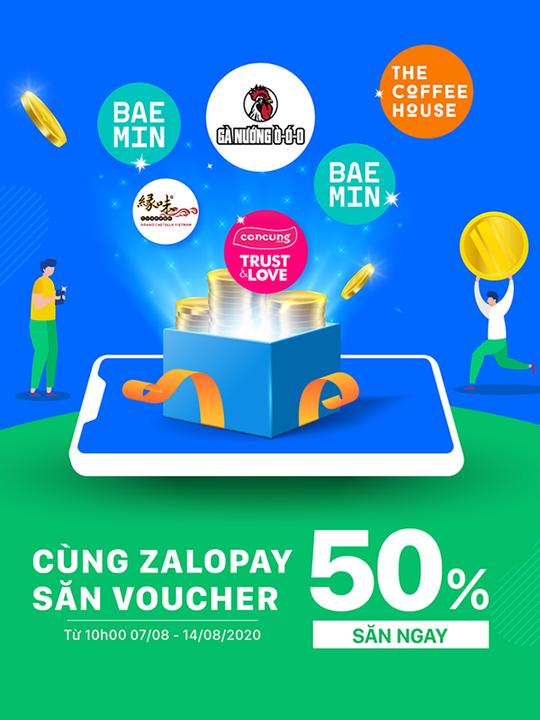ZaloPay săn siêu voucher giảm 50%