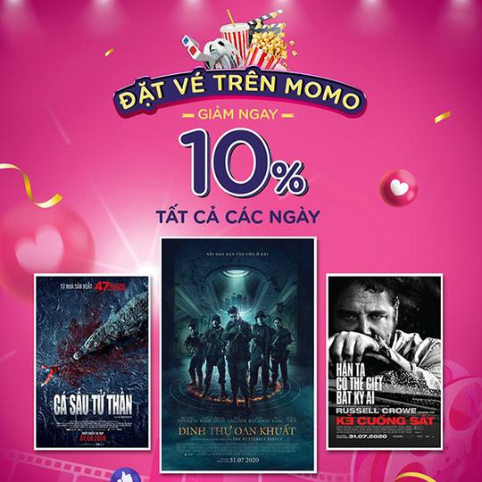 BHD Star Cineplex giảm 10% khi mua vé qua Momo