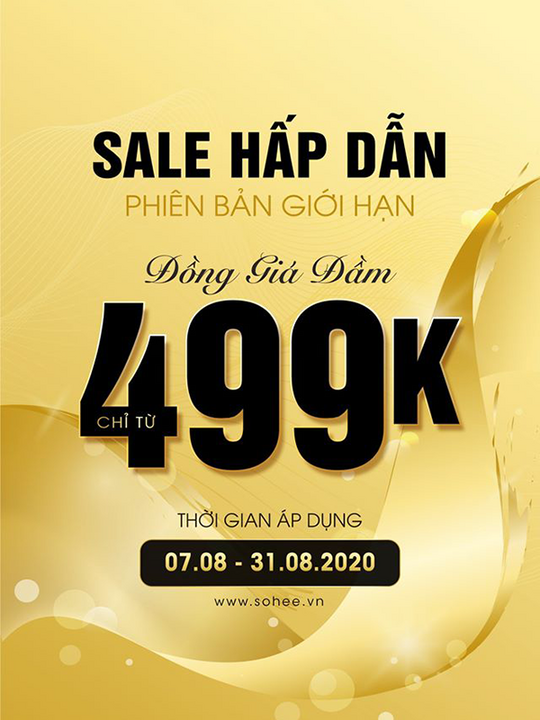 Sohee Fashion  khuyến mãi đồng giá đầm từ 499k
