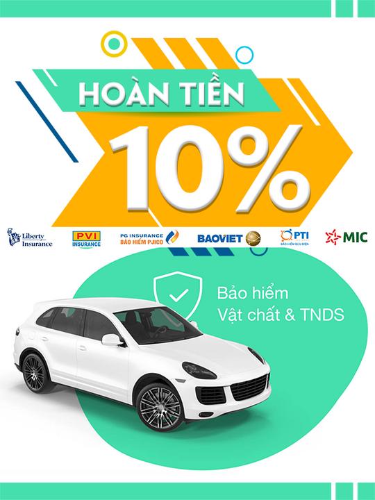 Bảo Hiểm Ô tô giảm phí đến 30% + Hoàn tiền 10%