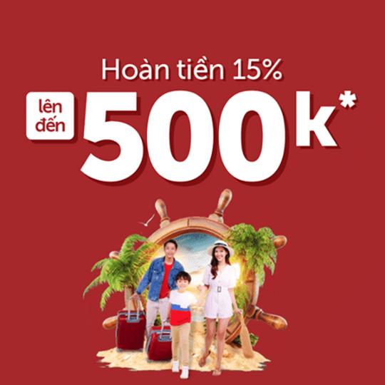 Traveloka hoàn tiền đến 500k chủ thẻ Techcombank