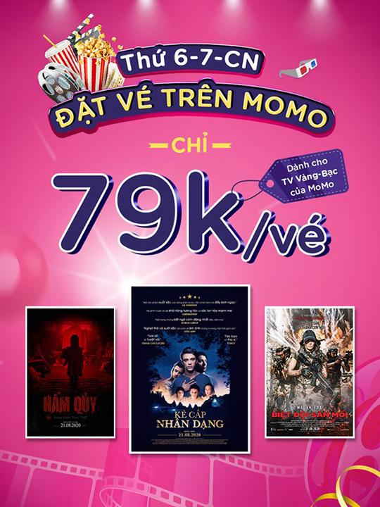 CGV khuyến mãi vé phim chỉ 79K qua MoMo