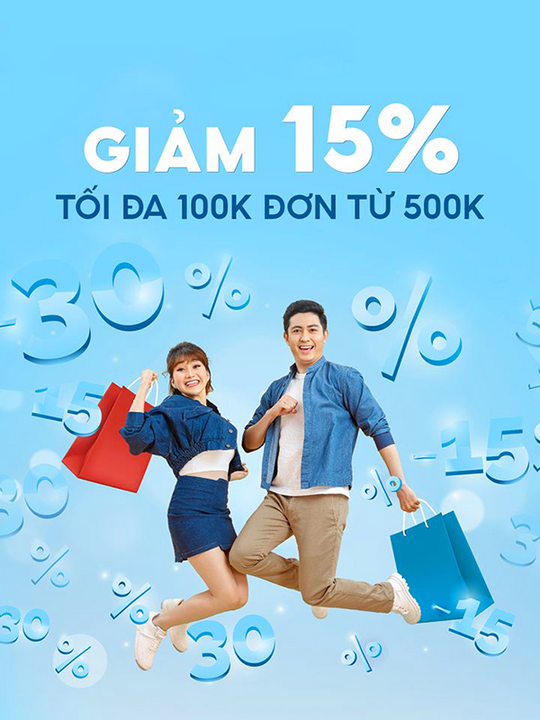 Shopee giảm 15% cho chủ thẻ Vietinbank